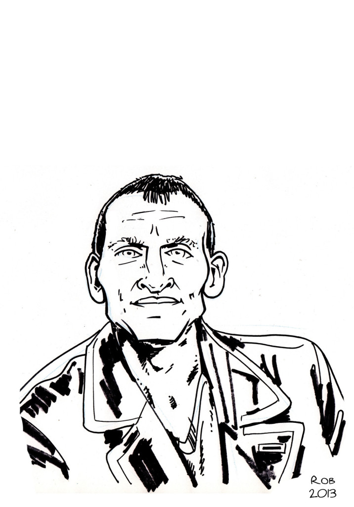 Christopher Eccleston has a very odd shaped head, which I've tried to capture here (though I probably haven't gone far enough). Those ears! :-D